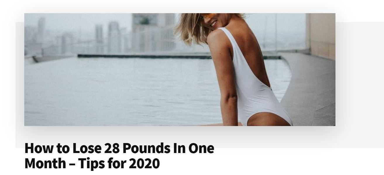 How to Lose 28 Pounds In One Month